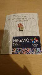長野オリンピック1998★テレフォンカード★未使用★記念バッチ付