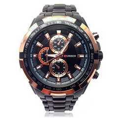 メンズ腕時計 パイロットスタイルアナログウォッチ ゴールド