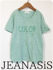 ((( JEANASiS )))COLORプリントTEE green/F