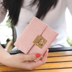 二つ折り財布 幾何学模様 ターンロック