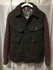 ブルーナボイン 毛ウール マルタジャケット XSサイズ0 緑+茶 日本製 ハンティング ミリタリー