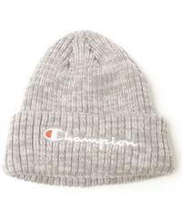 CHAMPIONチャンピオン☆グレーロゴニット帽