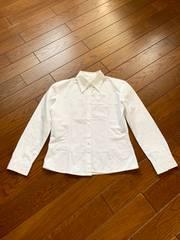 【サイズM】綿100%◆ホワイトシャツ◆オフィス 学校