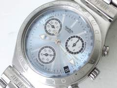 9101/swatchスウォッチ★人気のアイスブルーダイヤルクロノグラフモデル格安