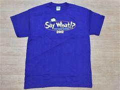 即決!USA古着●鮮やかロゴデザイン半袖TシャツL紫★アメカジ