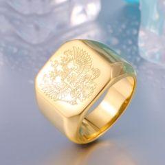 特A品 新品1円〜★送料無料★ワシ 彫刻 シンプル 26号 指輪