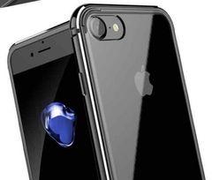 黒iPhone7ケース シリコン アルミ合金 二重保護 大人気