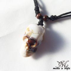 スカル ガイコツ ドクロ skull 髑髏 ネックレス チョーカー 641