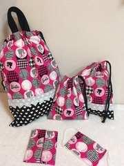 バービー(ピンク)☆入園入学5点セット(持ち手付体操服袋)ハンドメイド