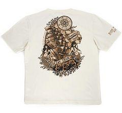 新作/ブラッドメッセージ/Tシャツ/白/blst-970/エフ商会/テッドマン/カミナリ雷