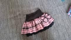 チェック リボン付き スカート 130