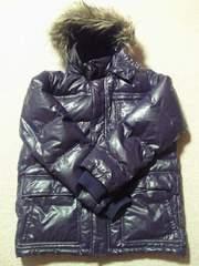 ユニクロ UNIQLO プレミアム ダウン ジャケット パーカー ジャンパー パープル コート XL