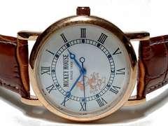 極美品 1スタ★ミッキーマウス 公式 ジルコニア メンズ腕時計