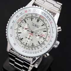 ◆ビックフェイス 自動巻 クロノグラフ腕時計 送料無料 新品