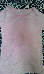ピンクボーダーTシャツM