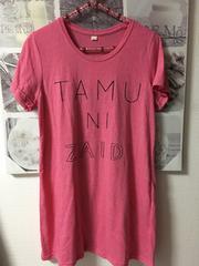 新品★ピンク色ロングTシャツM〜L