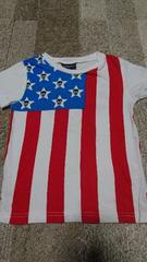 CHUBBYGANG 国旗柄半袖Tシャツ