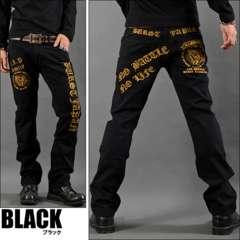 プレイハンド刺繍ポケットチノパンツ黒M