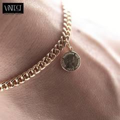 小コイン 4ミリ ゴールド チェーン ブレスレット