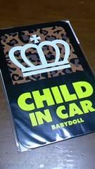 新品★BABY DOLL★セーフティサイン(ヒョウ柄/マグネット)★CHILD IN CAR