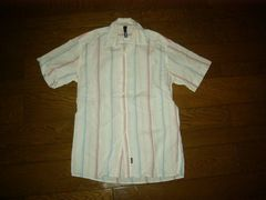 SILASサイラスストライプシャツSマルチカラー半袖