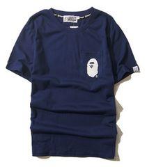 エイプ 半袖Tシャツ Mサイズ po mo ネイビー a bathing ape