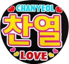 チャニョル・チャンヨル EXO  応援うちわ 手作りうちわ シール