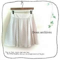 ((Doux archives/ドゥアルシーヴ))総レース♪優しい色合いタック入フレアスカート