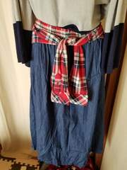 4L♪腰巻き♪デニム風スカート