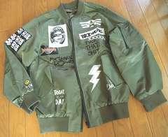薄手 MA-1 中綿なし ROCK&ROLL メンズ フライトジャケット (M)