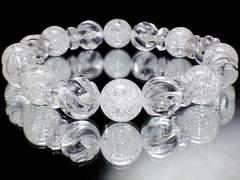 天然石★クラック水晶&Sライン螺旋彫水晶10ミリLサイズ