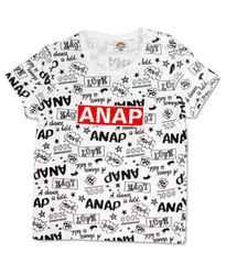 ♪新品 ANAPキッズ 総柄ロゴTシャツ ホワイト 110�p♪