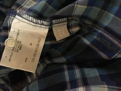UNIQLOにて購入ブルーチェック柄半袖シャツサイズXLほぼ未使用