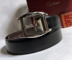 正規 Cartierカルティエ アルディロン トーチュ バックルベルト黒×茶 85調節 付属有