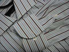 ◆BURBERRY(バーバリー)/ストライプシャツ/BLACK LABEL好き/サイズ40-82/美品