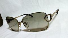 正規 BVLGALIブルガリ B-zeroロゴ×メタルサングラス 黒×金 兼用 メガネ眼鏡
