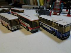 トミカ、バス、3台
