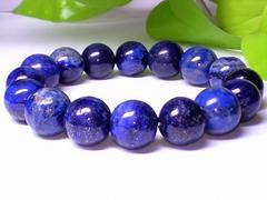 ラピスラズリ瑠璃石12ミリ人気天然石数珠