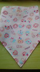 ケーキ柄三角巾ゆうメール82円