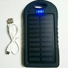 ソーラーモバイルバッテリー LEDライト付き 大容量 BBQにも活躍♪