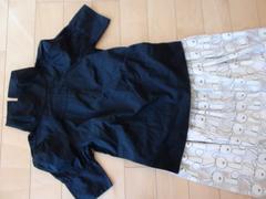 ホコモモラ可愛い黒ぷっくり袖ブラウス