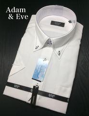 Adam & Eveアダム & イヴ 半袖 ドレスシャツ Yシャツ L 41