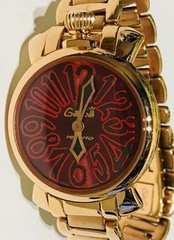 良品ガガミラノレディース時計ピンクゴールドブレスベルト