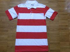 即決USA古着鮮やかボーダーデザイン半袖ポロシャツ!アメカジビンテージ