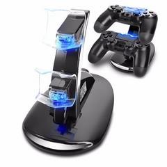 PS4 コントローラーLED充電スタンド  miniUSB  2台同時充電 青