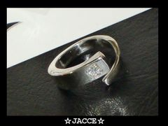 送料無料☆JACCE☆キュービックジルコニアシルバーコイルリング