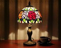 薔薇 ステンドグラス ティファニーランプ 照明