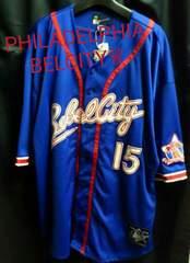 フィラデルフィアベルシティ★ナンバリングゲームシャツ2xlブルー