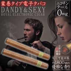 【送料無料】葉巻タイプ 電子タバコ DANDY&SEXY◆リアルな炎の光