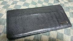 ブラックレーベル 本革製2折財布 ブラック・中古
